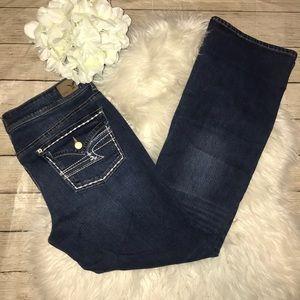American Eagle Kick Boot Flap Pocket Jeans LONG